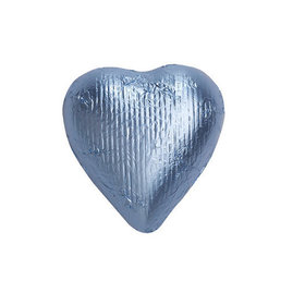 Pastel Blue Solid Milk Chocolate Foiled Hearts