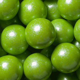 Lime Green Shimmer 1-inch Gumballs