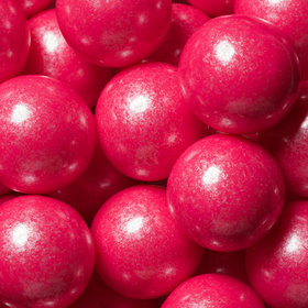 Bright Pink Shimmer 1-inch Gumballs