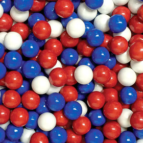 Patriotic Mix Red, White & Blue Sixlets 12LB Case