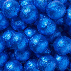 Royal Blue Solid Milk Chocolate Foiled Balls