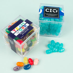 Personalized Business Teamwork JUST CANDY® favor cube with Jelly Belly Jelly Beans