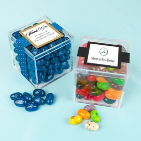 Personalized Business Thank You JUST CANDY® favor cube with Jelly Belly Jelly Beans