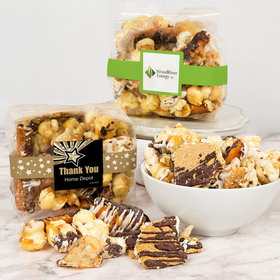 Personalized Business Thank You Trendy Trash Gourmet Popcorn 3.5 oz Bags