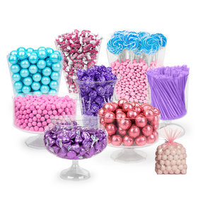 Unicorn Themed Blue, Pink & Purple Deluxe Candy Buffet
