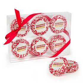 Personalized Christmas Add Your Logo Chocolate Covered Oreos 6pc Gift Box