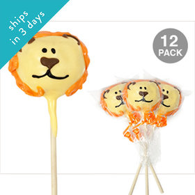Lion Double Chocolate Cake Pops (12 Pack)