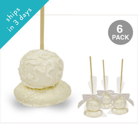 Bride Double Chocolate Cake Pops with Sugar Cookie Base (6 Pack)