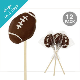 Football Double Chocolate Cake Pops (12 Pack)