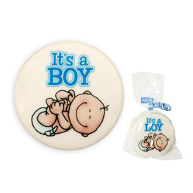 It's a Boy White Chocolate Covered OREO Cookies (12 Pack)
