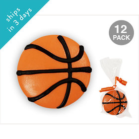 Basketball White Chocolate Covered OREO Cookies (12 Pack)