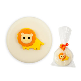 White Chocolate Covered OREO Cookies with Lion (12 Pack)