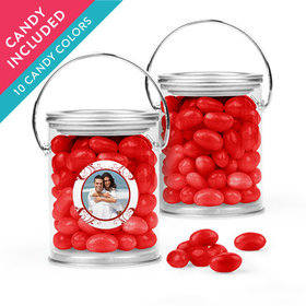 Personalized Anniversary Favor Assembled Paint Can with Just Candy Jelly Beans