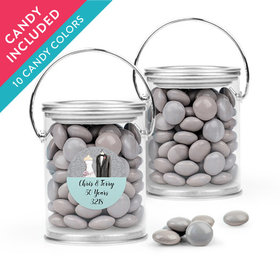 Personalized Anniversary Favor Assembled Paint Can with Just Candy Milk Chocolate Minis