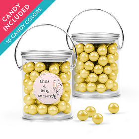 Personalized Anniversary Favor Assembled Paint Can with Sixlets