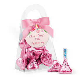 Personalized Anniversary Favor Assembled Purse with Hershey's Kisses
