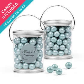 Personalized 25th Anniversary Favor Assembled Paint Can with Sixlets