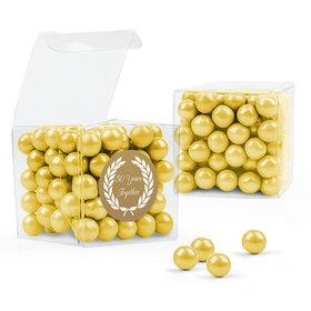 Personalized 50th Anniversary Favor Assembled Clear Box with Sixlets