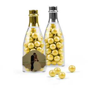 Personalized 50th Anniversary Favor Assembled Champagne Bottle with Sixlets