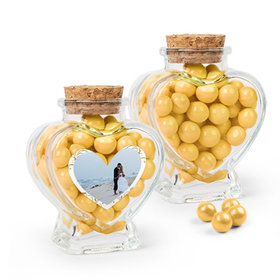 Personalized 50th Anniversary Favor Assembled Heart Jar with Sixlets
