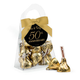 Personalized 50th Anniversary Favor Assembled Purse with Hershey's Kisses