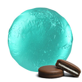 Belgian Chocolate Covered Oreo Cookies Turquoise (24 Pack)