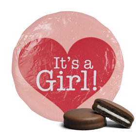 Belgian Chocolate Covered Oreo Cookies 'It's A Girl' Pink (24 Pack)