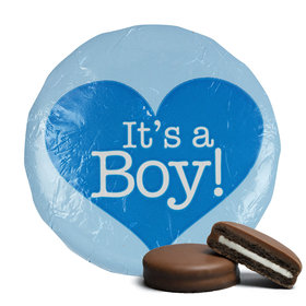 Belgian Chocolate Covered Oreo Cookies 'It's A Boy' Blue (24 Pack)