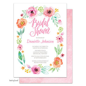 Bonnie Marcus Collection Personalized Watercolor Blossom (White) Invitation