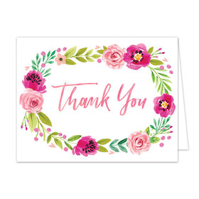 Bonnie Marcus Collection Watercolor Blossom Wreath Thank You