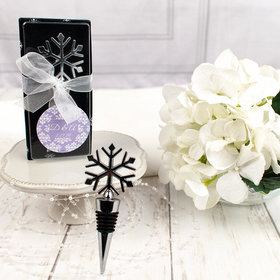 Personalized Wedding Snowflake Bottle Stopper