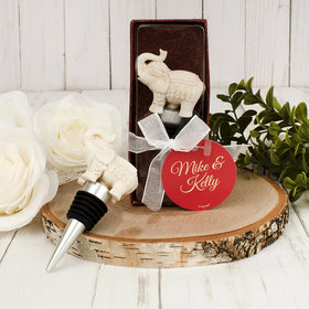 Personalized Wedding Elephant Bottle Stopper