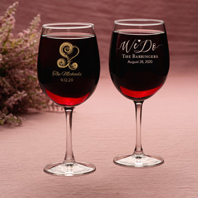 Personalized Wedding 12oz Wine Goblets