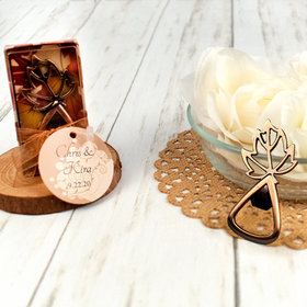 Personalized Wedding Leaf Bottle Opener