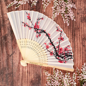 Personalized Wedding Cherry Blossom Fan