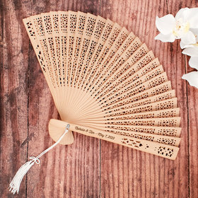 Personalized Wedding Sandalwood Fan