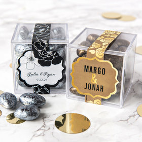 Personalized Wedding Sweet Candy in a Cube with Premium Almond Jewels
