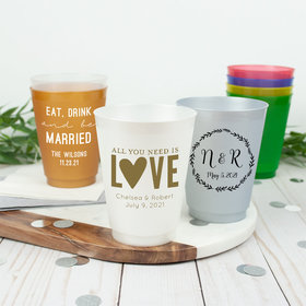 Personalized Wedding 16oz Shatterproof Cup