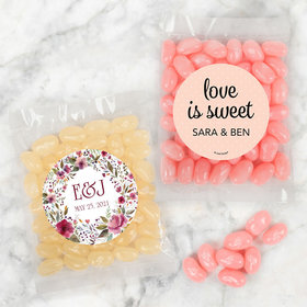Personalized Wedding Candy Bags with Jelly Belly Jelly Beans