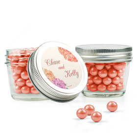 Personalized Wedding Favor Assembled Small Mason Jar with Sixlets