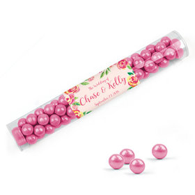 Personalized Wedding Favor Assembled Clear Tube with Sixlets
