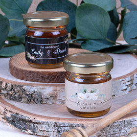 Personalized Wedding Organic Wildflower Honey