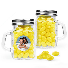 Personalized Wedding Favor Assembled Mini Mason Mug with Just Candy Jelly Beans