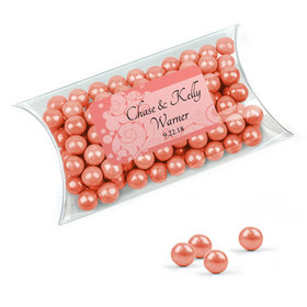 Personalized Wedding Favor Assembled Pillow Box with Sixlets