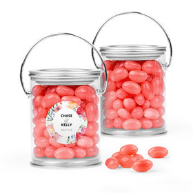 Personalized Wedding Favor Assembled Paint Can with Just Candy Jelly Beans