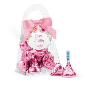Personalized Wedding Favor Assembled Purse with Hershey's Kisses