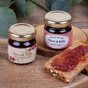 Personalized Wedding Strawberry Preserves