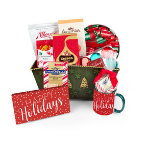 Deluxe Simply Holidays Candy Gift Basket