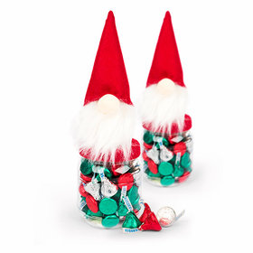 Santa Gnome with Holiday Hershey's Kisses