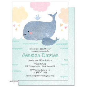 Bonnie Marcus Collection Personalized Baby Whale Invitation